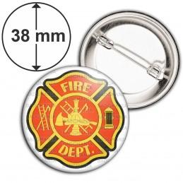 Badge 38mm Epingle Sapeurs Pompiers Fire Dept USA