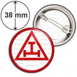 Badge 38mm Epingle Arche Royale Rite Francs-Maçons Maçonnique Rouge