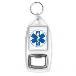 Porte Clés Décapsuleur Croix de Vie Paramedic Caducée Santé