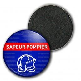 Magnet Aimant Frigo 3.8cm Bande Rouge Sapeurs Pompiers Casque F1