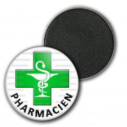 Magnet Aimant Frigo 3.8cm Caducée Esculape Croix Verte Pharmacie Pharmacien