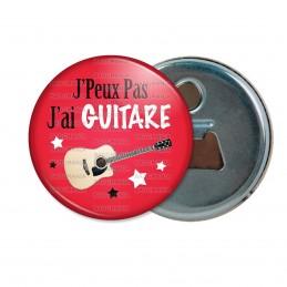 Décapsuleur 6cm Aimant Magnet J'Peux Pas J'ai Guitare - Instrument Musique