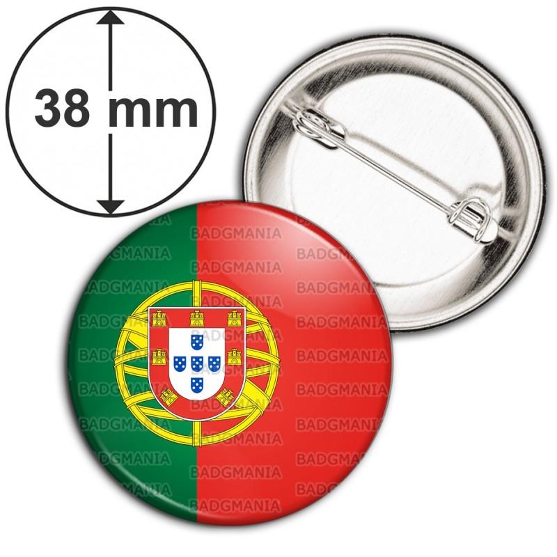Badge 38mm Epingle Drapeau Portugal Portuguais Portuguese Flag Embleme