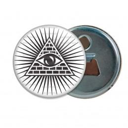 Décapsuleur 6cm Aimant Magnet Œil de la Providence Omniscient Delta Lumineux Francs-Maçons Maçonnique