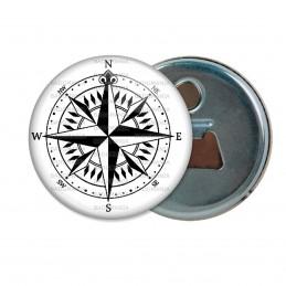 Décapsuleur 6cm Aimant Magnet Compas Boussole 3 - Symbole Marin
