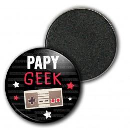 Magnet Aimant Frigo 3.8cm Papy Geek