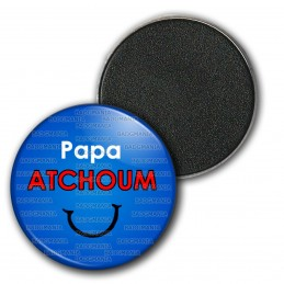 Magnet Aimant Frigo 3.8cm Papa Atchoum - Fond bleu