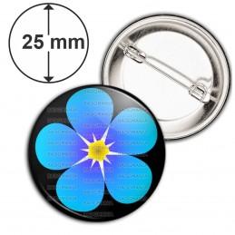 Badge 25mm Epingle Fleur Myosotis Francs-Maçons Symbole Maçonnique