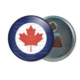 Décapsuleur 6cm Aimant Magnet Cocarde Force Aerienne Canadienne Canada RCAF Feuille Erable Rouge