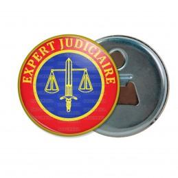 Décapsuleur 6cm Aimant Magnet Cocarde Expert Judiciaire Bleu Rouge Glaive Balance