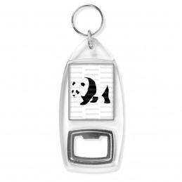Porte Clés Décapsuleur Panda Géant Ursidés Animal Chine Noir et Blanc