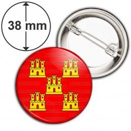 Badge 38mm Epingle Blason Poitou-Charentes Drapeau Symbole France