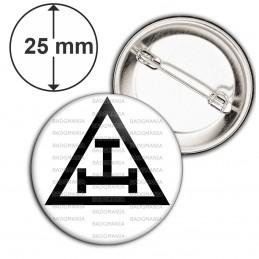 Badge 25mm Epingle Arche Royale Rite Francs-Maçons Maçonnique Noir