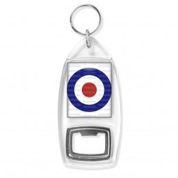 Porte Clés Décapsuleur Cocarde Tricolore Bleu Blanc Rouge Royal Air Force