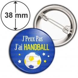 Badge 38mm Epingle J'Peux Pas J'ai HANDBALL