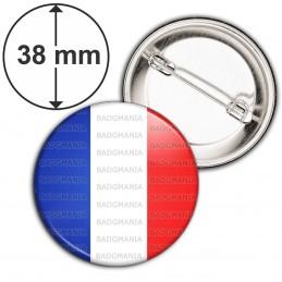 Badge 38mm Epingle France Tricolore Bleu Blanc Rouge Drapeau Français