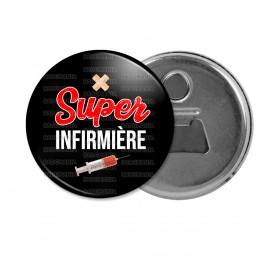 Décapsuleur 6cm Aimant Magnet Super Infirmière - Seringue Fond Noir