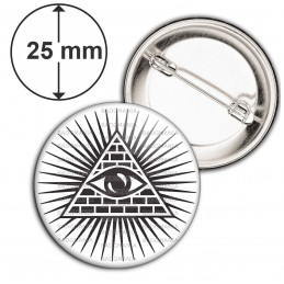 Badge 25mm Epingle Œil de la Providence Omniscient Delta Lumineux Francs-Maçons Maçonnique