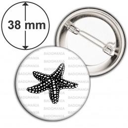 Badge 38mm Epingle Etoile de Mer - Animal Symbole Marin
