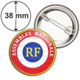 Badge 38mm Epingle Cocarde RF Assemblée Nationale
