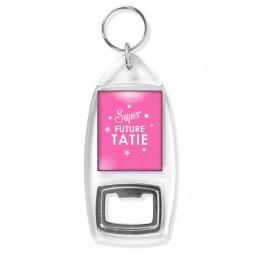 Porte Clés Décapsuleur Super Future TATIE - Etoiles Fond Rose