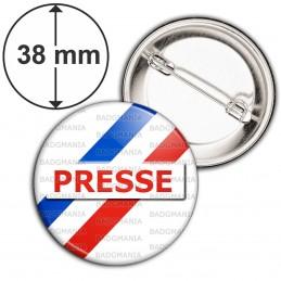 Badge 38mm Epingle Presse Reporter Journaliste