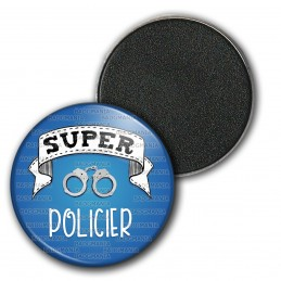 Magnet Aimant Frigo 3.8cm Super POLICIER