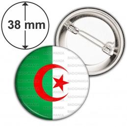 Badge 38mm Epingle Drapeau Algérie Algérien Croissant Rouge Embleme Islamique