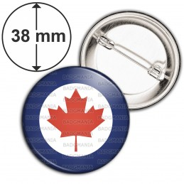 Badge 38mm Epingle Cocarde Force Aerienne Canadienne Canada RCAF Feuille Erable Rouge