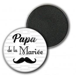 Magnet Aimant Frigo 3.8cm Papa de la Mariée - Moustache Mariage Cérémonie