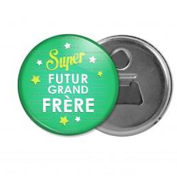 Décapsuleur 6cm Aimant Magnet Super Futur GRAND FRERE - Etoiles Fond Vert
