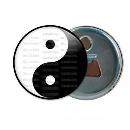 Décapsuleur 6cm Aimant Magnet Yin Yang Blanc Noir Harmonie Equilibre Feng Shui Paix Peace