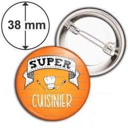 Badge 38mm Epingle Super CUISINIER