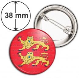 Badge 38mm Epingle Blason Haute Normandie Drapeau Symbole France