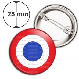 Badge 25mm Epingle Cocarde France Tricolore Bleu Blanc Rouge