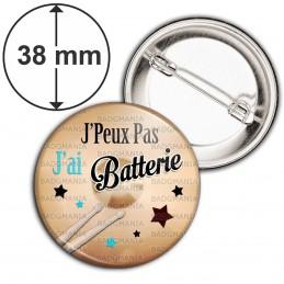 Badge 38mm Epingle J'Peux Pas J'ai Batterie - Instrument Musique