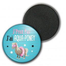 Magnet Aimant Frigo 3.8cm J'Peux Pas J'ai Aqua-Poney - Poney Boué