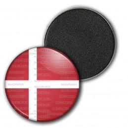Magnet Aimant Frigo 3.8cm Drapeau Danemark Flag Rouge Blanc Viking