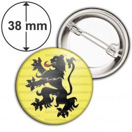 Badge 38mm Epingle Blason Nord Pas de Calais Drapeau Symbole France