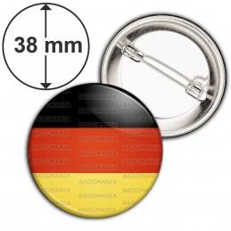 Badge 38mm Epingle Drapeau Allemagne Allemand German Flag Emblème Tricolore Noir Rouge Or