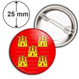 Badge 25mm Epingle Blason Poitou-Charentes Drapeau Symbole France