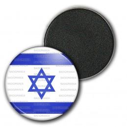 Magnet Aimant Frigo 3.8cm Drapeau Israêl Israelien Flag Etoile de David Emblème Bleu Blanc