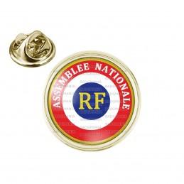 Pin's rond 2cm doré Cocarde RF Assemblée Nationale