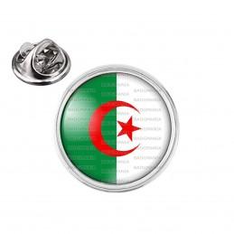 Pin's rond 2cm argenté Drapeau Algérie Algérien Croissant Rouge Embleme Islamique