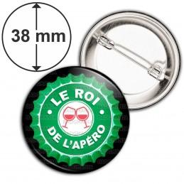 Badge 38mm Epingle Le Roi de l'Apéro - Capsule bière