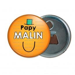 Décapsuleur 6cm Aimant Magnet Papy Malin - Fond orange