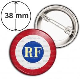 Badge 38mm Epingle Cocarde RF Bleu Blanc Rouge