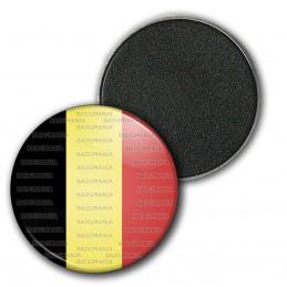 Magnet Aimant Frigo 3.8cm Drapeau Belge Belgique Belgium Flag Emblème Tricolore Noir Or Rouge
