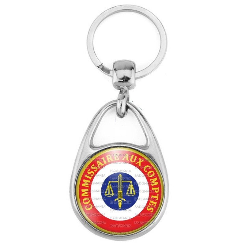 Porte Clés Métal 2 Faces Logo 3cm Cocarde Commissaire Aux Comptes