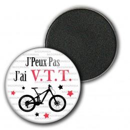 Magnet Aimant Frigo 3.8cm J'Peux Pas J'ai VTT Vélo